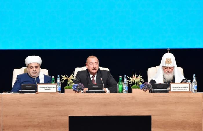 Ilham Aliyev:  Die einzige Möglichkeit zur Lösung des Berg-Karabach-Konflikts ist die Wiederherstellung der territorialen Integrität Aserbaidschans