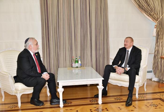 Le président Aliyev reçoit le président du Congrès américain des dirigeants chrétiens