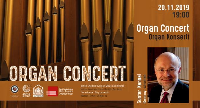 Gunter Kennel to present organ concert in Baku