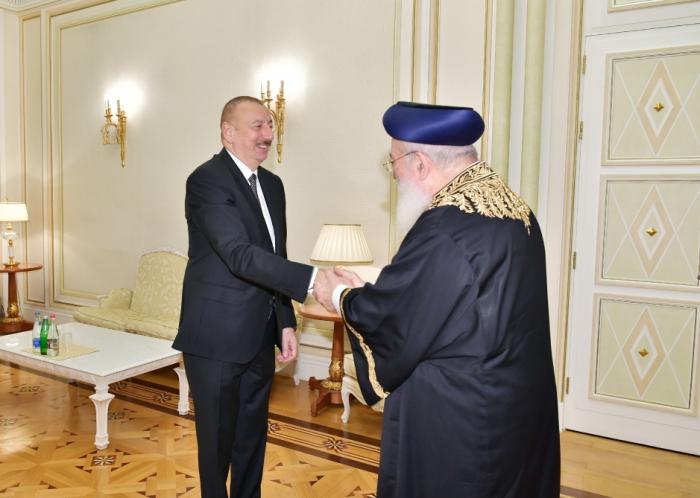 Ilham Aliyev rencontre le grand rabbinséfaraded'Al-Qods - PHOTOS