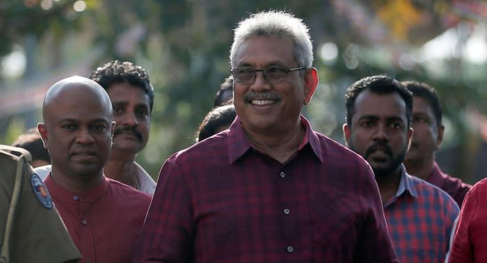 Gotabaya Rajapaksa jura como presidente de Sri Lanka