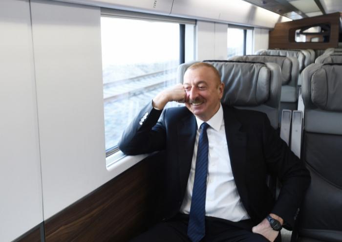 Prezident Pirşağı stansiyasının açılışında - VİDEO+FOTOLAR (Yenilənib)