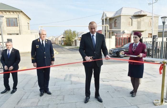 Ilham Aliyev participe à l'ouverture de la ligne ferroviaire reconstruite Sabountchou-Pirchaghy