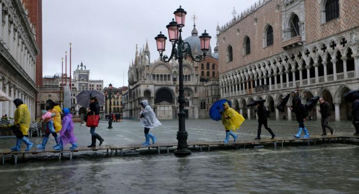 Apocalipsis en Venecia  : el agua llega a la plaza de San Marcos