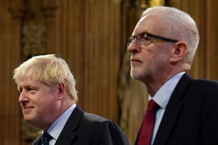 Wahldebatte Johnson-Corbyn - Handschlag für den guten Ton