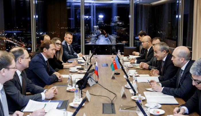İqtisadiyyat naziri Moskvada görüşlər keçirib