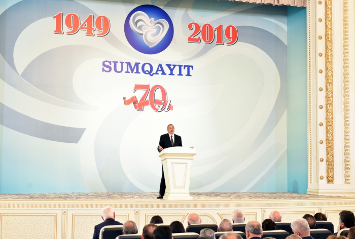 Prezident Sumqayıtın 70 illiyinə həsr olunmuş tədbirdə - Yenilənib