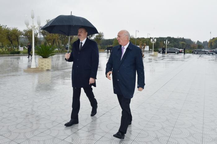 Prezident Sumqayıt Bulvarında - VİDEO (Yenilənib)