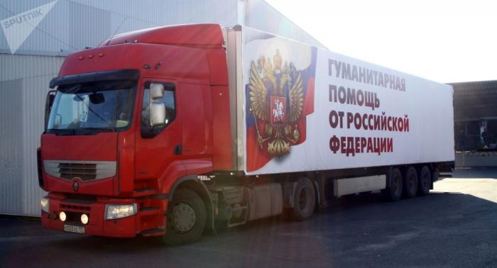 Un convoy con ayuda humanitaria para niños parte desde Rusia a Donbás