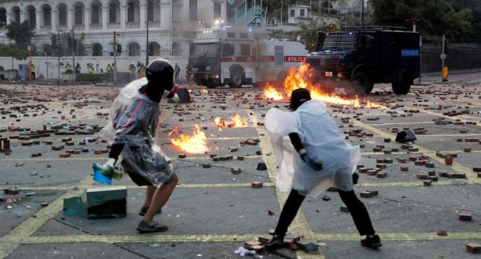 Secretaria de Justicia afirma que Hong Kong está en fase de violencia pura y dura