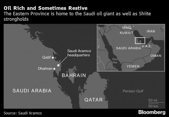 Saudi Arabia's oil heartland is calm