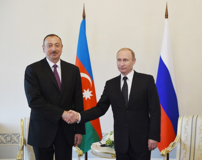 Azerbaijani, Russian presidents to meet in St. Petersburg