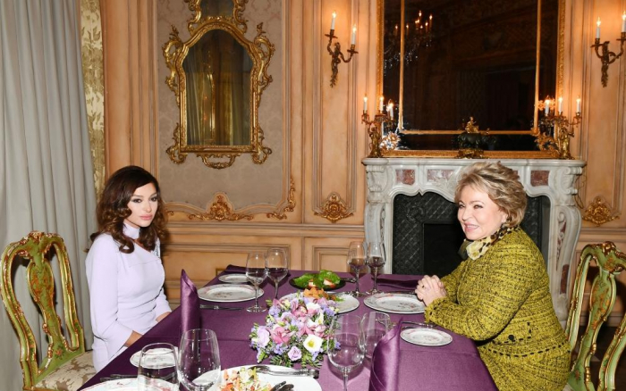 Mehriban Aliyeva had joint dinner with Chairperson of Russian Federation Council