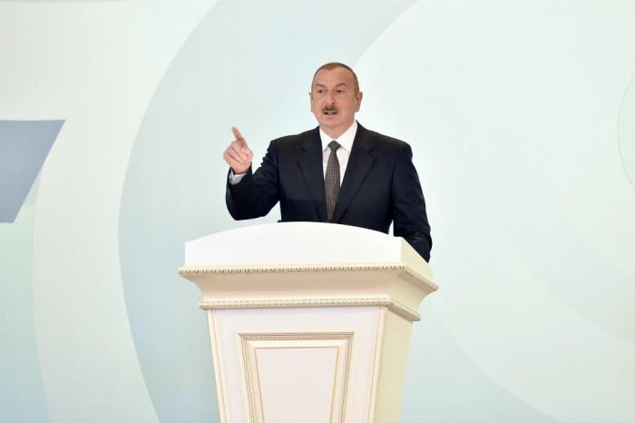 President Ilham Aliyev makes speech on 70thanniversary of Sumgayit city