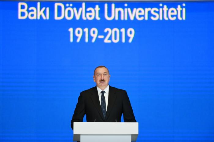 Prezident BDU-nun yubiley mərasimində - VİDEO+FOTOLAR (Yenilənib)