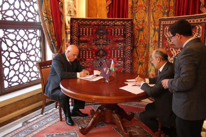 """""""Azerkhalcha"""" y la Cámara de Comercio de EE. UU. firmaron un protocolo de intención"""