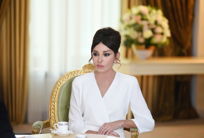 First VP Mehriban Aliyeva thanks for congratulations on her receiving Order of Friendship