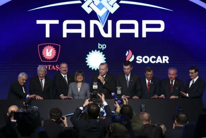 TANAP-Europe connection inaugurated in northwest Turkey-UPDATED