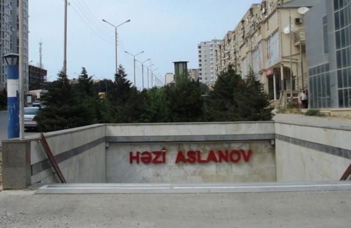 """""""Həzi Aslanov"""" stansiyası təmir olunacaq"""