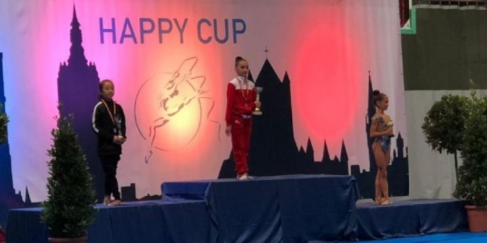 Azerbaijani gymnasts take four gold medals at Happy Cup 2019