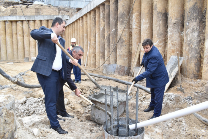Foundation stone laid for building named after great Azerbaijani poet Nasimi in Kyiv