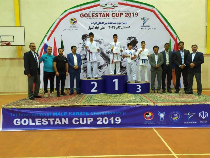 Azerbaijani karate fighters bring home ten medals from Iran