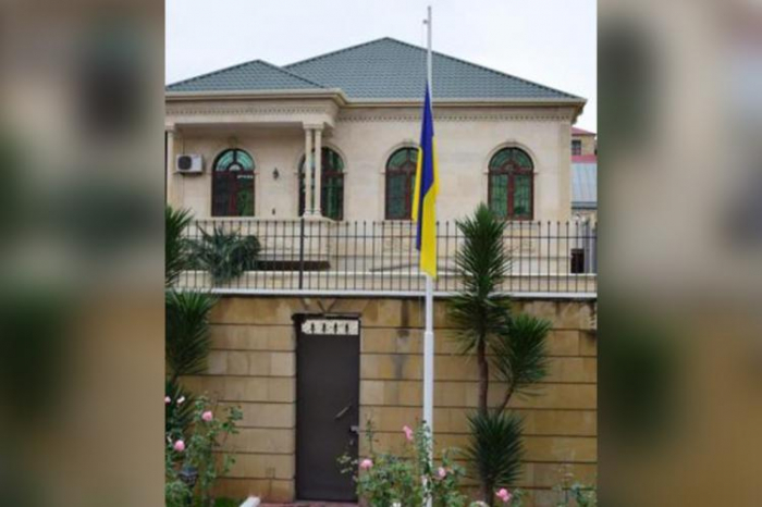 Ukrainian Embassy to Azerbaijan lowered flag