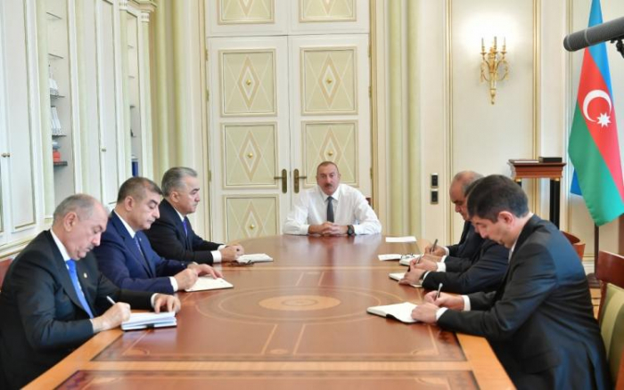 President Ilham Aliyev receives newly appointed heads of Executive Powers