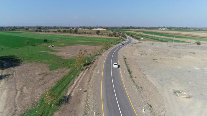 4 kəndi əhatə edən yol yenidən qurulub - FOTOLAR
