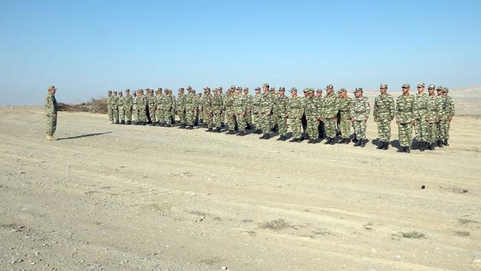 Əlahiddə Ümumqoşun Orduda yarış keçirilib - VİDEO