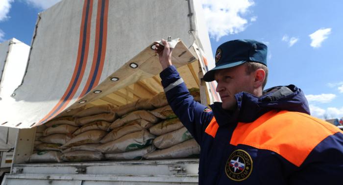 قافلة جديدة من المساعدات الإنسانية الروسية تنطلق غدا إلى دونيتسك ولوغانسك