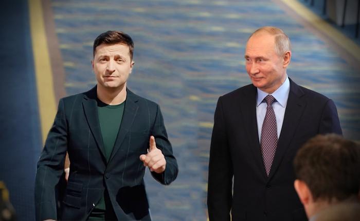 """Putin Zelenski ilə görüş təklifinə """"yox"""" dedi"""
