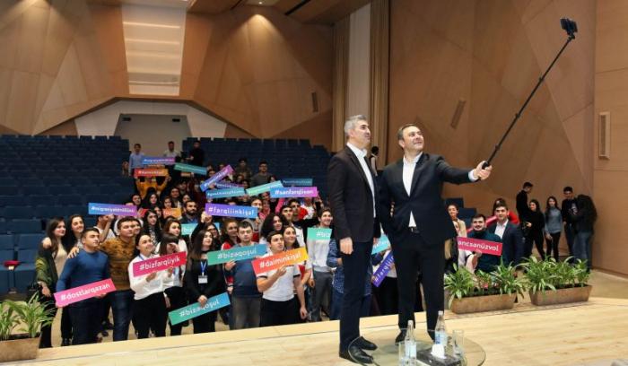 """""""Gənclik İnkişaf Forumu""""nun növbəti qonağı Mətin Kərimli oldu - FOTOLAR"""