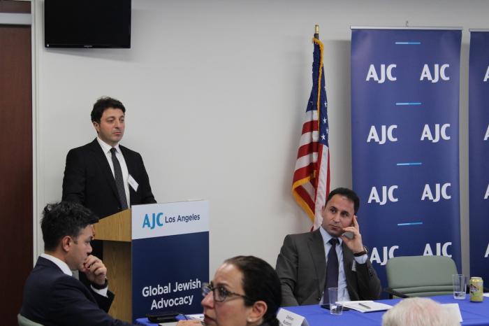 Jefe de la Comunidad azerbaiyana de Nagorno Karabaj se reúne con el liderazgo del Comité Judío Estadounidense