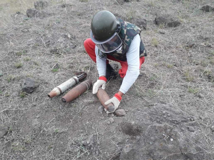 Xətai rayonunda 4 ədəd top mərmisi tapılıb