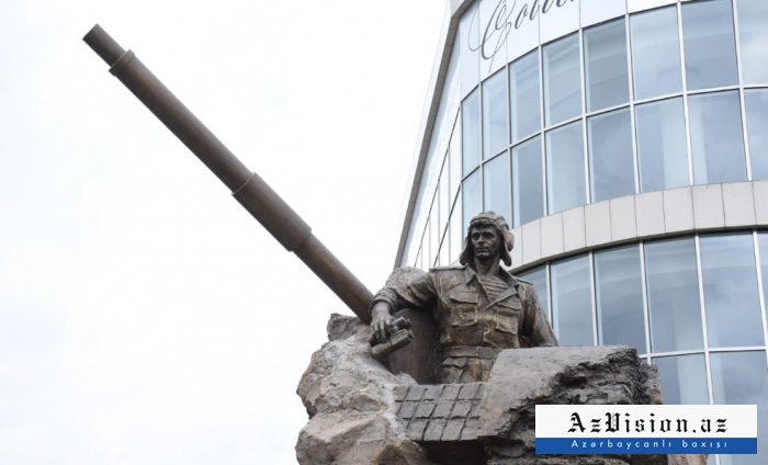 Monument to National Hero of Azerbaijan Albert Agarunov inaugurated in Baku