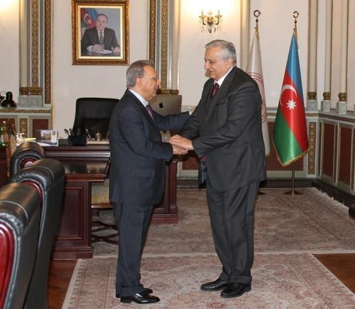 Ramiz Mehdiyev gürcü akademiklə görüşüb