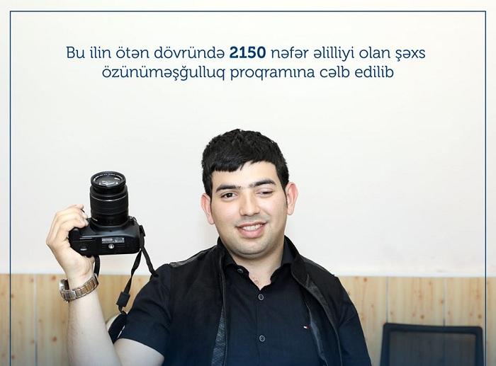 2150 əlil özünüməşğulluq proqramına cəlb edilib