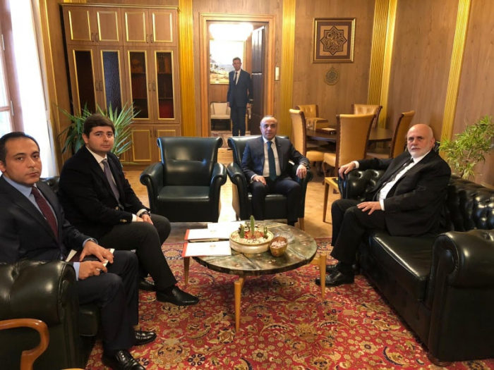 Azay Quliyev Türkiyə parlamentinin vitse-spikeri ilə görüşüb