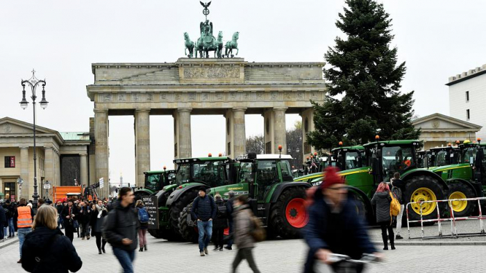 German farmers sow their discontent over agricultural policiies-  NO COMMENT