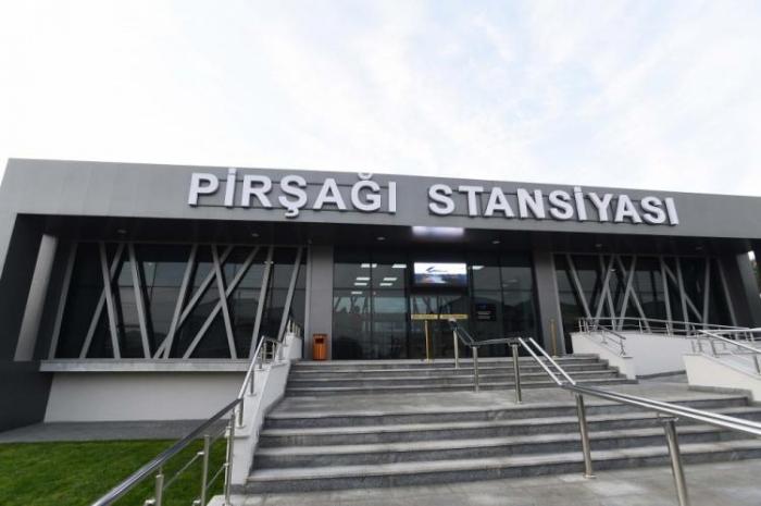 Presidente Ilham Aliyev inaugura la estación ferroviaria de Pirshagi
