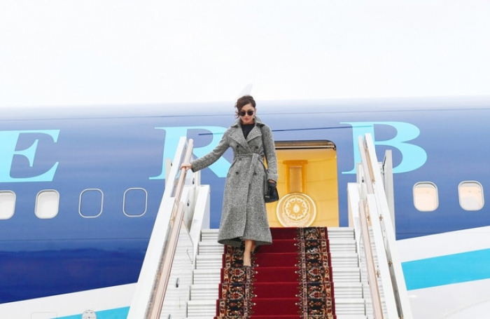 Primera vicepresidenta de Azerbaiyán, Mehriban Aliyeva, permanece en Rusia en una visita oficial