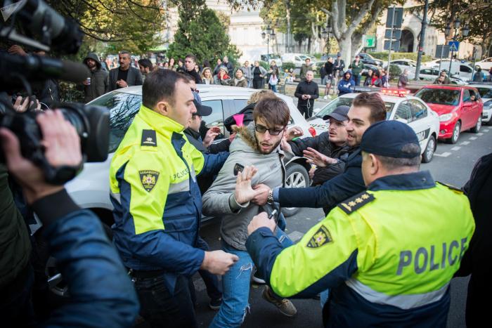 Tbilisinin mərkəzində etiraz aksiyası keçirilir