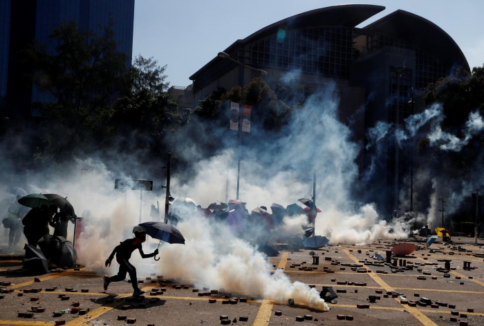 Hong Kong protesters hurl petrol bombs in fresh university clashes