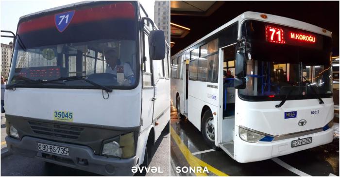İki marşrut xətti üzrə avtobuslar yeniləndi