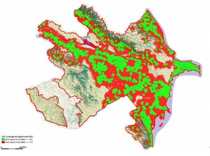 Azercell il ərzində regionlarda 4G şəbəkəsini 364% artırıb
