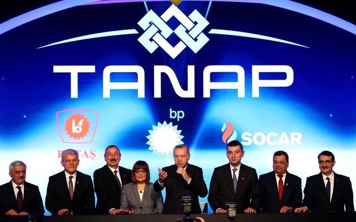 TANAP-ın Avropa ilə birləşən hissəsinin açılışı oldu