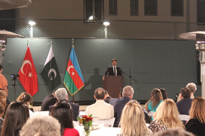 Tural Ganjaliyev speaks of Armenian occupation in the United States -   VIDEO