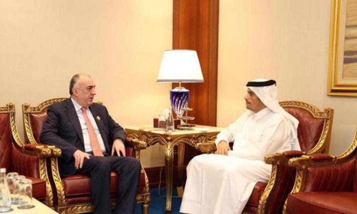 Azerbaijani FM meets with his Qatari counterpart