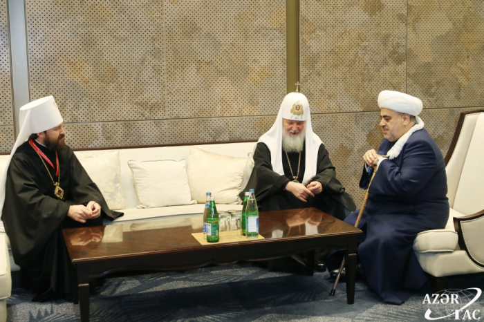 Sheikhulislam Allahshukur Pashazade met with Patriarch Kirill of Moscow and All Russia